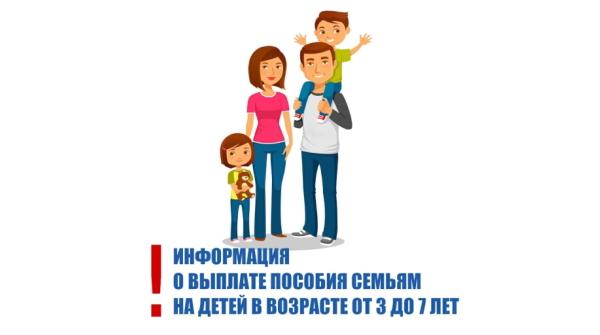 Информация для получателей ежемесячных денежных выплат на детей в возрасте от 3 до 7 лет