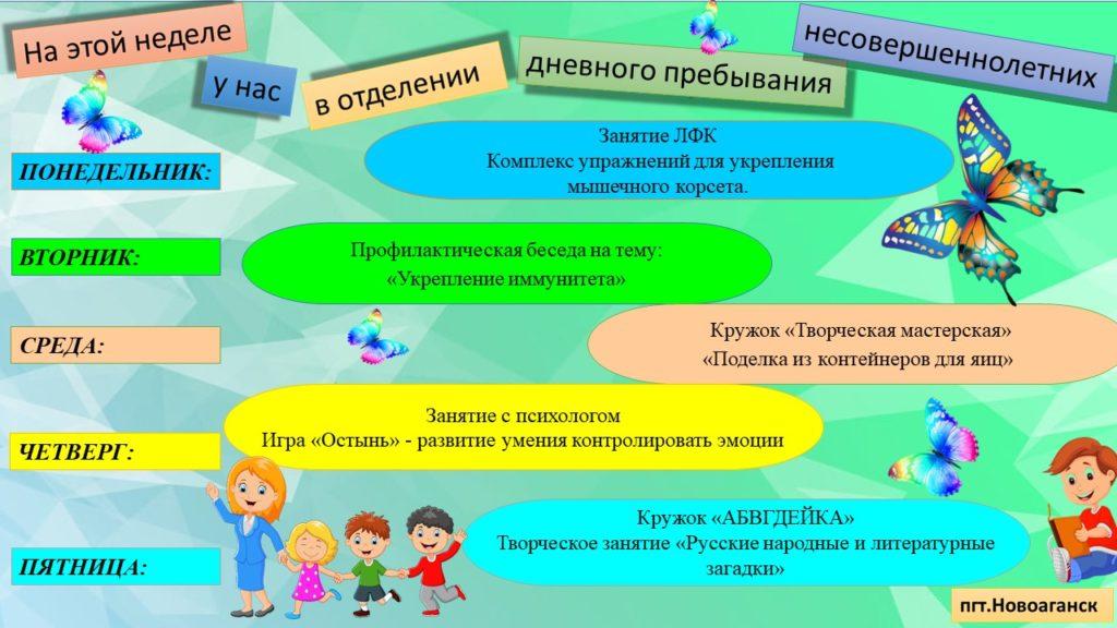 План мероприятий ОДПН пгт.Новоаганск
