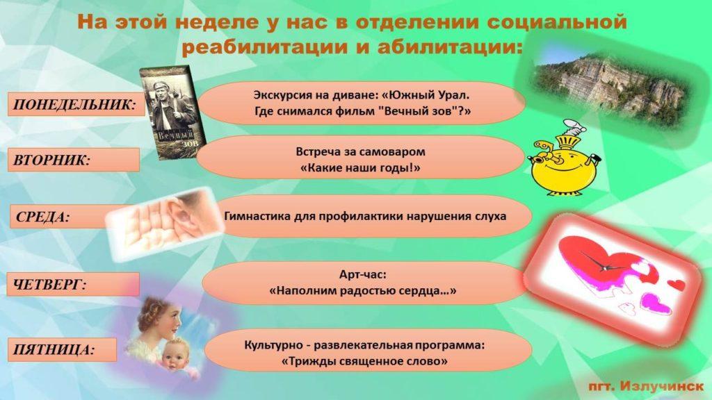 План мероприятий ОСРиА пгт.Излучинск