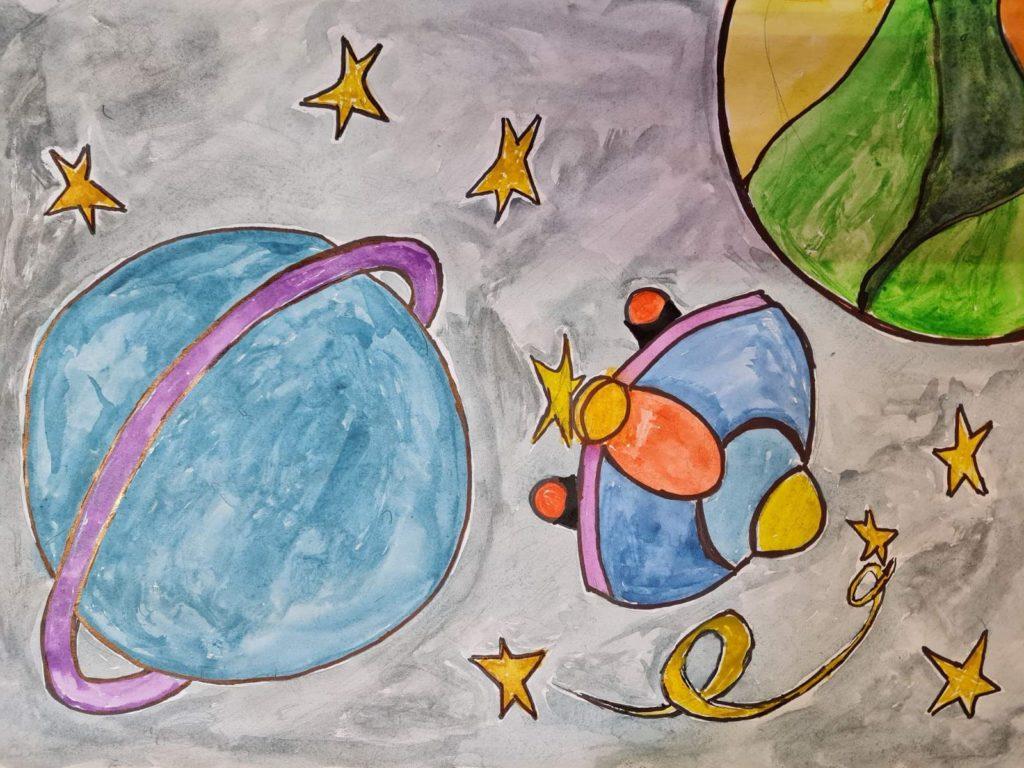 Лучший рисунок про космос