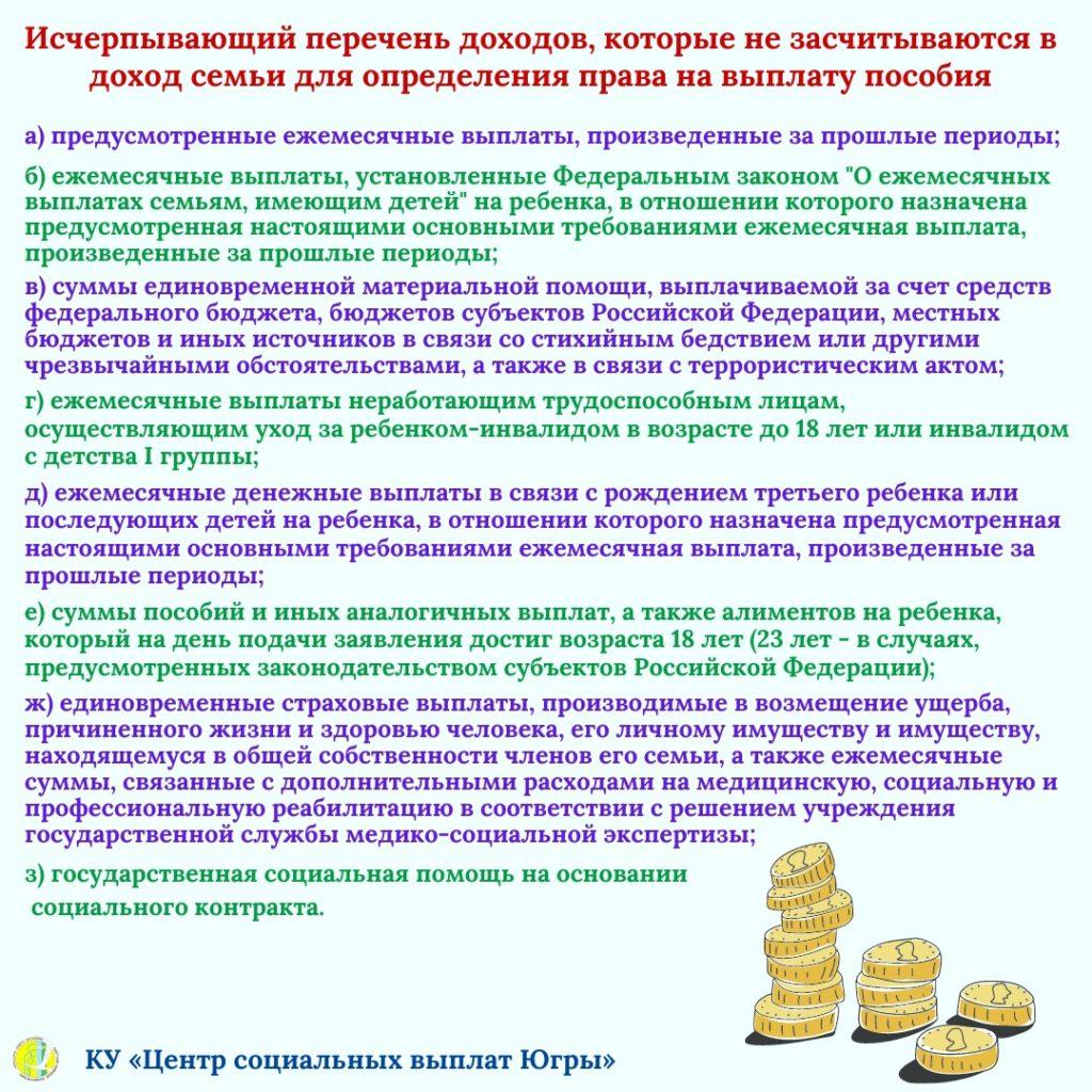 Порядок и условия назначения ежемесячной денежной выплаты на ребенка в возрасте от 3 до 7 лет включительно